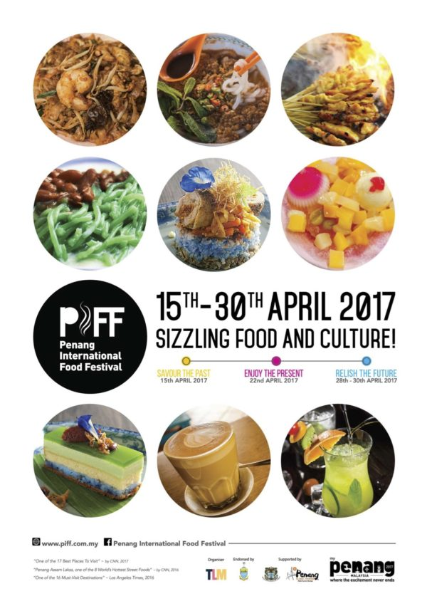Penang International Food Festival, April 15th-30th 2017