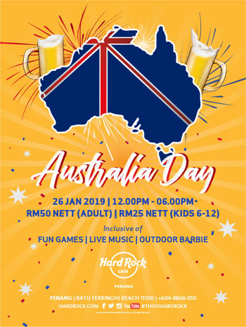 Hard Rock Cafe Penang Australia Day
